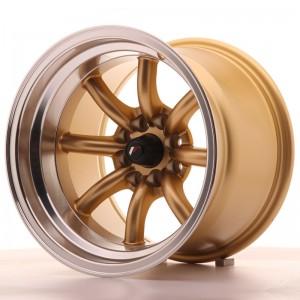 10.5x15 4x100 - 4x114.3 ET32 Ζάντα Japan Racing JR19 Χρώμα:Gold